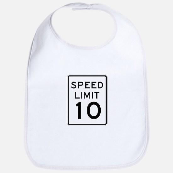 Speed Limit 10 - USA Bib