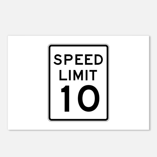 Speed Limit 10 - USA Postcards (Package of 8)