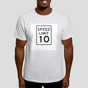 Speed Limit 10 - USA Ash Grey T-Shirt