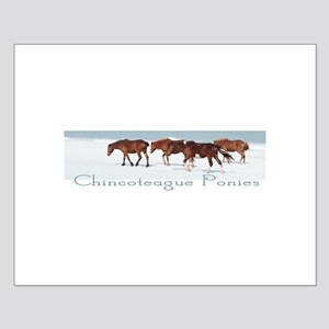 Chincoteague Ponies Small Poster