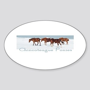 Chincoteague Ponies Oval Sticker