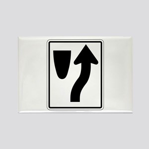 Keep Right 2 - USA Rectangle Magnet