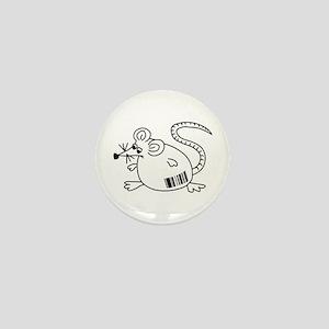 Barcode Rat Mini Button