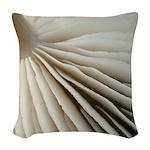 Mushroom gills woven throw pillow