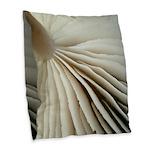 Mushroom gills Burlap throw pillow