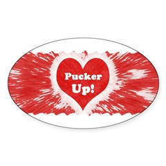 Pucker Up! Oval Decal