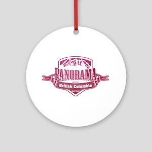 Panorama British Columbia Ski Resort 2 Ornament (R