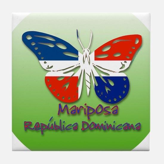 Mariposa Republica Dominicana Tile Coaster