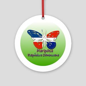 Mariposa Republica Dominicana Ornament (Round)
