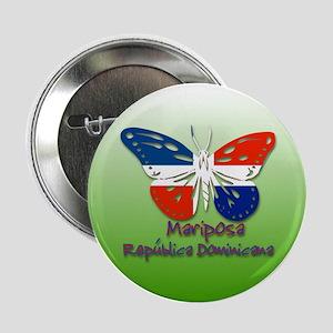 Mariposa Republica Dominicana Button