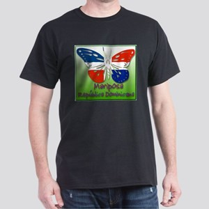 Mariposa Republica Dominicana Black T-Shirt