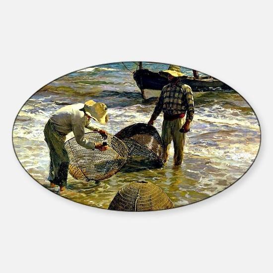Unique Fishin Sticker (Oval)