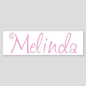 Melinda Bumper Sticker