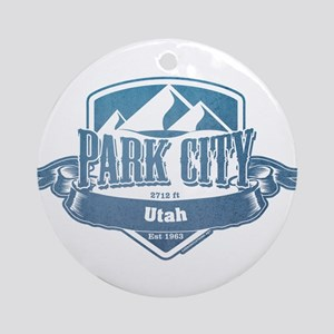 Park City Utah Ski Resort 1 Ornament (Round)