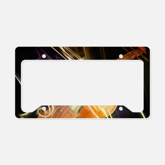 Violin Symphony Abstract Artw License Plate Holder