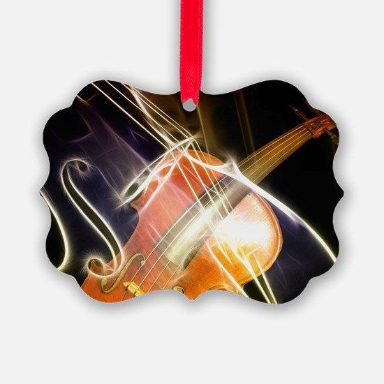 Violin Symphony Abstract Artwork Ornament