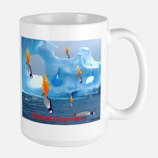 Flaming Penguin Large Mug