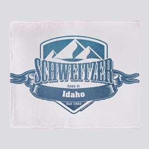 Schweitzer Idaho Ski Resort 1 Throw Blanket