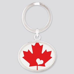Canada Day Maple Leaf and Heart Keychains