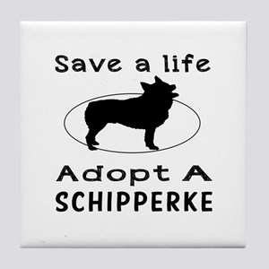 Adopt A Schipperke Dog Tile Coaster