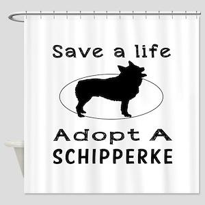 Adopt A Schipperke Dog Shower Curtain