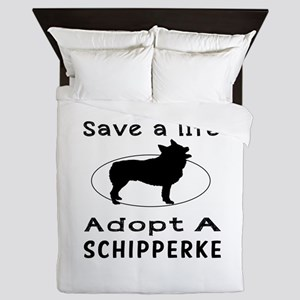 Adopt A Schipperke Dog Queen Duvet