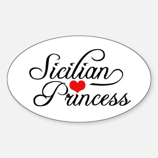 Sicilian Princess Oval Decal