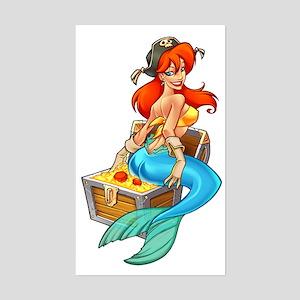 Mermaid Molly Pirate Rectangle Sticker