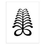 AYA Adinkra Symbol Small Poster