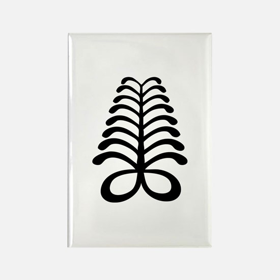 AYA Adinkra Symbol Rectangle Magnet