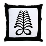 AYA Adinkra Symbol Throw Pillow
