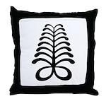 AYA Adinkra Symbol Throw Pillow