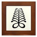 AYA Adinkra Symbol Framed Tile