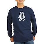 AYA Adinkra Symbol Long Sleeve Dark T-Shirt