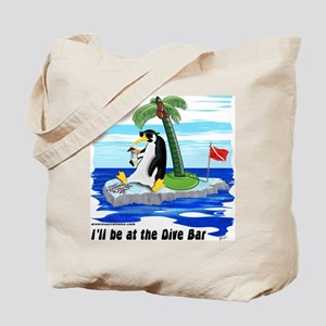 Penguin Dive Bar Tote Bag