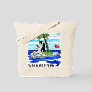 Penguin Dive Bar Tote Bag