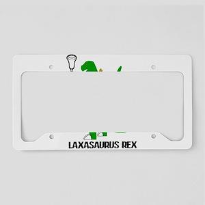 Lacrosse Laxasaurus Rex License Plate Holder