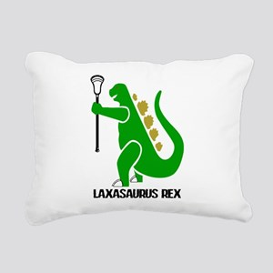Lacrosse Laxasaurus Rex Rectangular Canvas Pillow