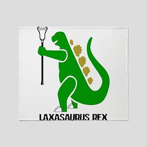 Lacrosse Laxasaurus Rex Throw Blanket