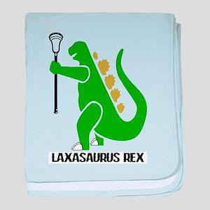 Lacrosse Laxasaurus Rex baby blanket