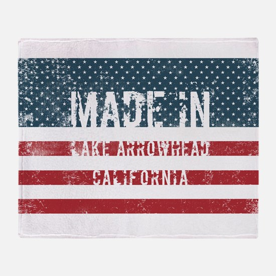 Made in Lake Arrowhead, California Throw Blanket