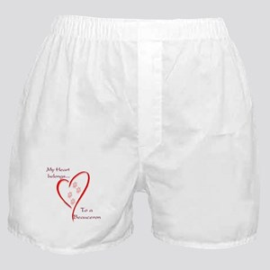 Beauceron Heart Belongs Boxer Shorts