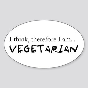 I think therefore I am Vegeta Oval Sticker
