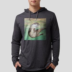 Playful River Otter Long Sleeve T-Shirt