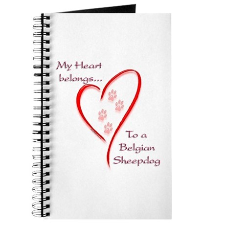 Belgian Sheepdog Heart Belongs Journal