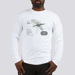 US Paratrooper Print Long Sleeve T-Shirt