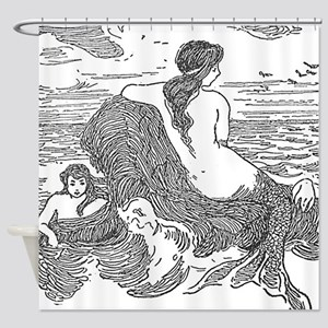Latimer J Wilson Mermaids Shower Curtain