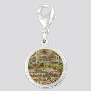 Monet's Japanese Bridge and Water Lily Charms
