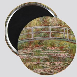 Monet's Japanese Bridge and Water Lily Magnets