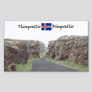 Edge of Thingvellir Rectangle Sticker